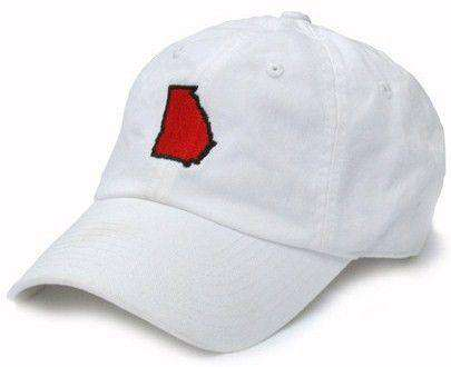 Hats/Visors - GA Athens Gameday Hat In White By State Traditions