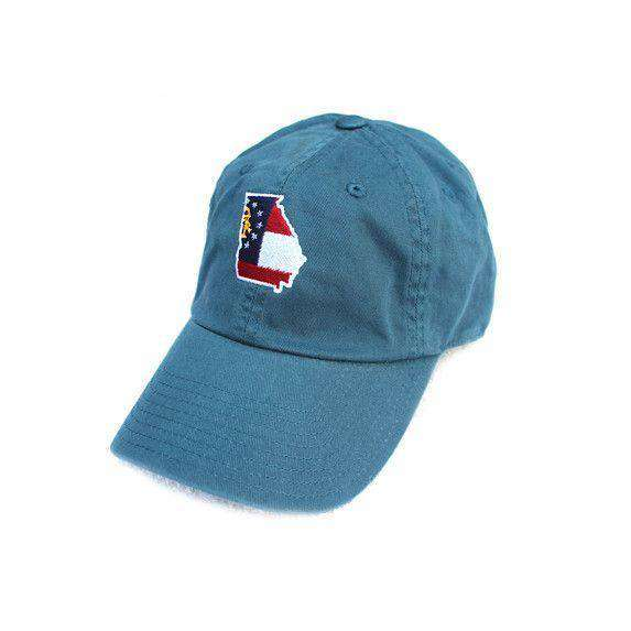 Hats/Visors - GA Traditional Hat In Gulf Blue By State Traditions