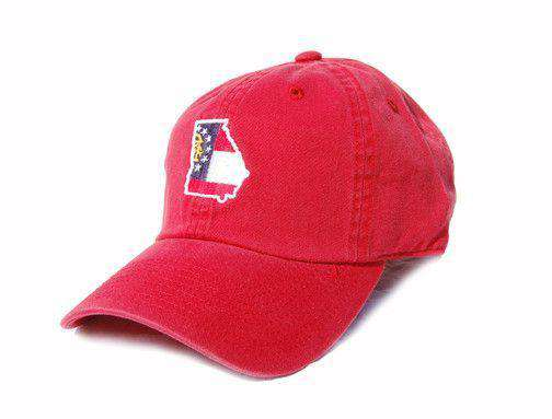 Hats/Visors - GA Traditional Hat In Red By State Traditions