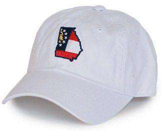 Hats/Visors - GA Traditional Hat In White By State Traditions