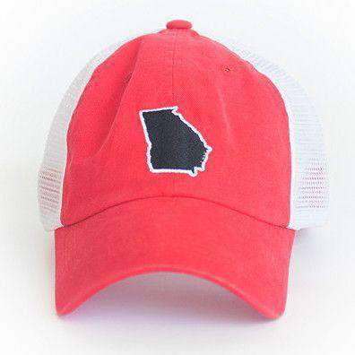 Hats/Visors - Georgia Athens Gameday Trucker Hat In Red By State Traditions