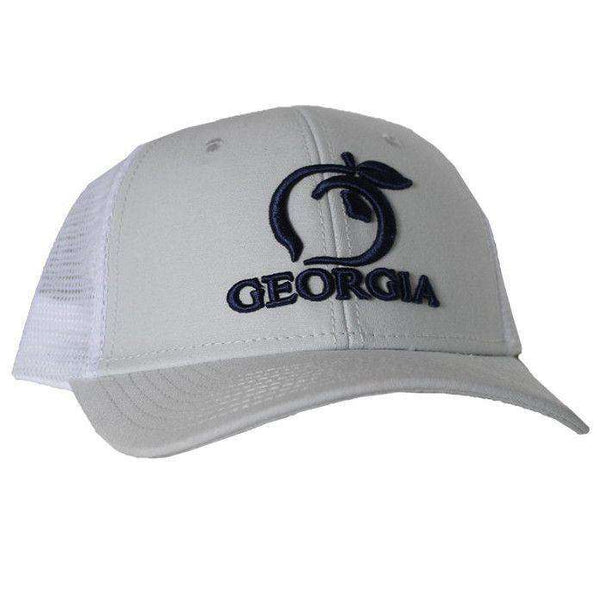 126f2521896 Hats Visors - Georgia Mesh Back Hat In Ice Grey By Peach State Pride