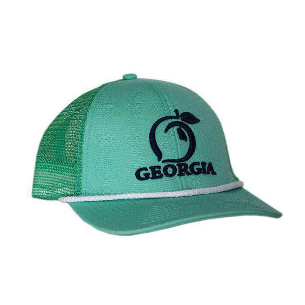 55abe0d3dfc Hats Visors - Georgia Mesh Back Hat In Mint With Navy By Peach State Pride