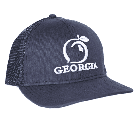 73d163f9fb7 Hats Visors - Georgia Mesh Back Hat In Navy By Peach State Pride