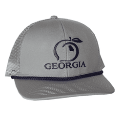 739980876cf8bb Peach State Pride Georgia Mesh Back Rope Hat in Grey – Country Club Prep