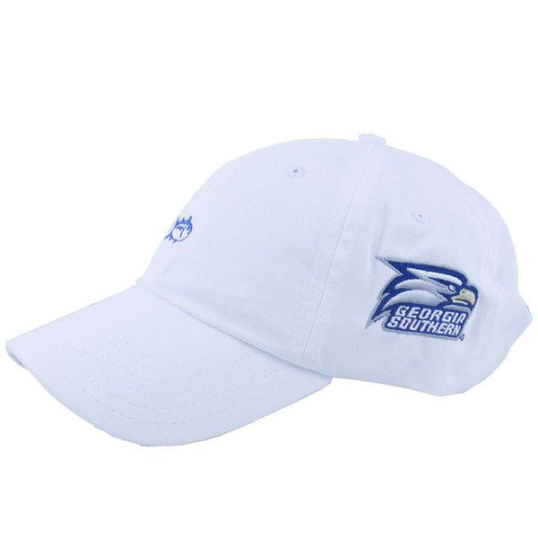 Hats/Visors - Georgia Southern Collegiate Skipjack Hat In White By Southern Tide