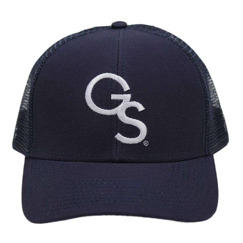 27fcce8b22717b Hats/Visors - Georgia Southern University Mesh Back Hat In Navy By Peach  State Pride