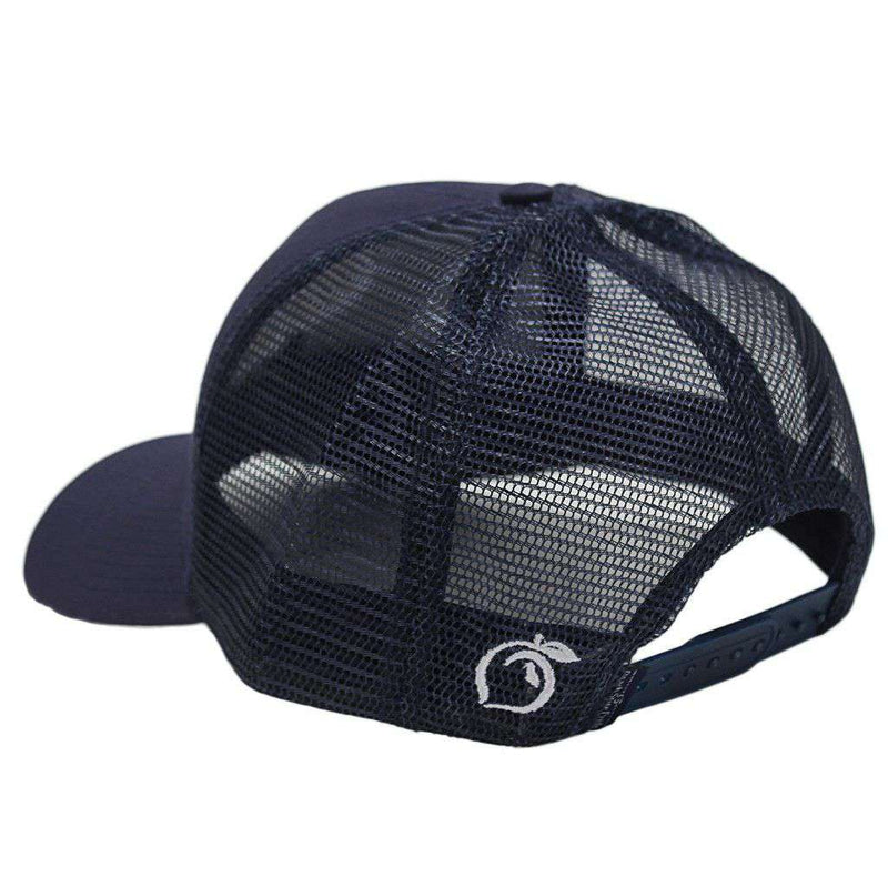 bea6b6afd19 Hats Visors - Georgia Southern University Mesh Back Hat In Navy By Peach  State Pride