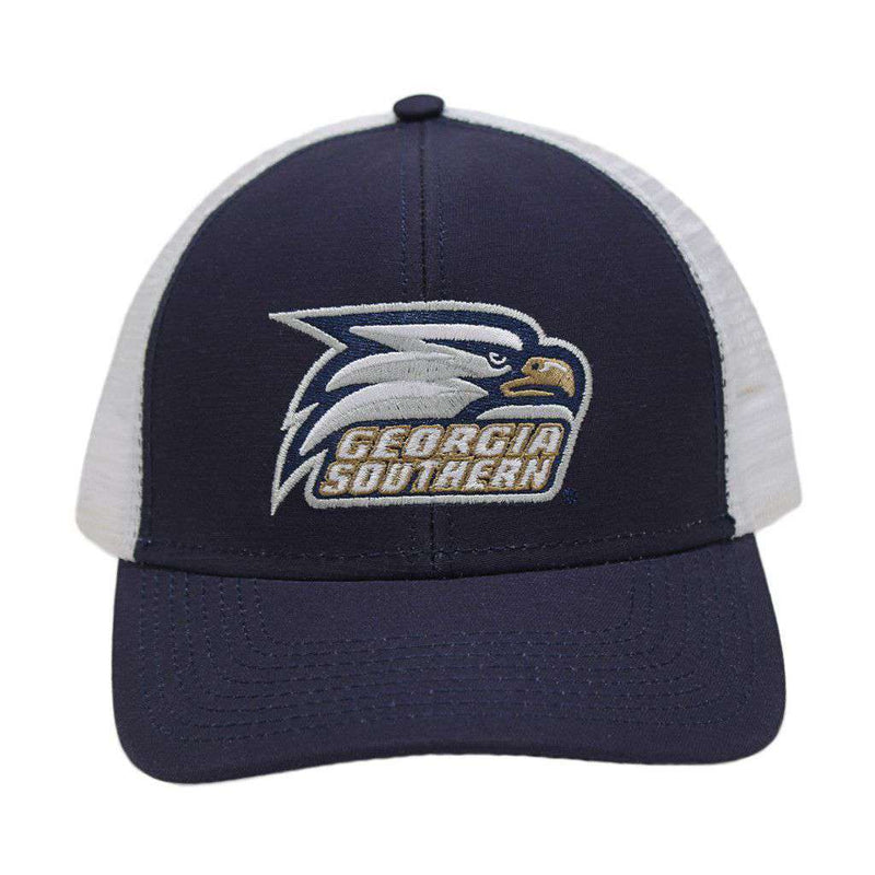 new arrival 2152e 4c5f6 ... promo code hats visors georgia southern university screaming eagle mesh  back hat in navy by peach