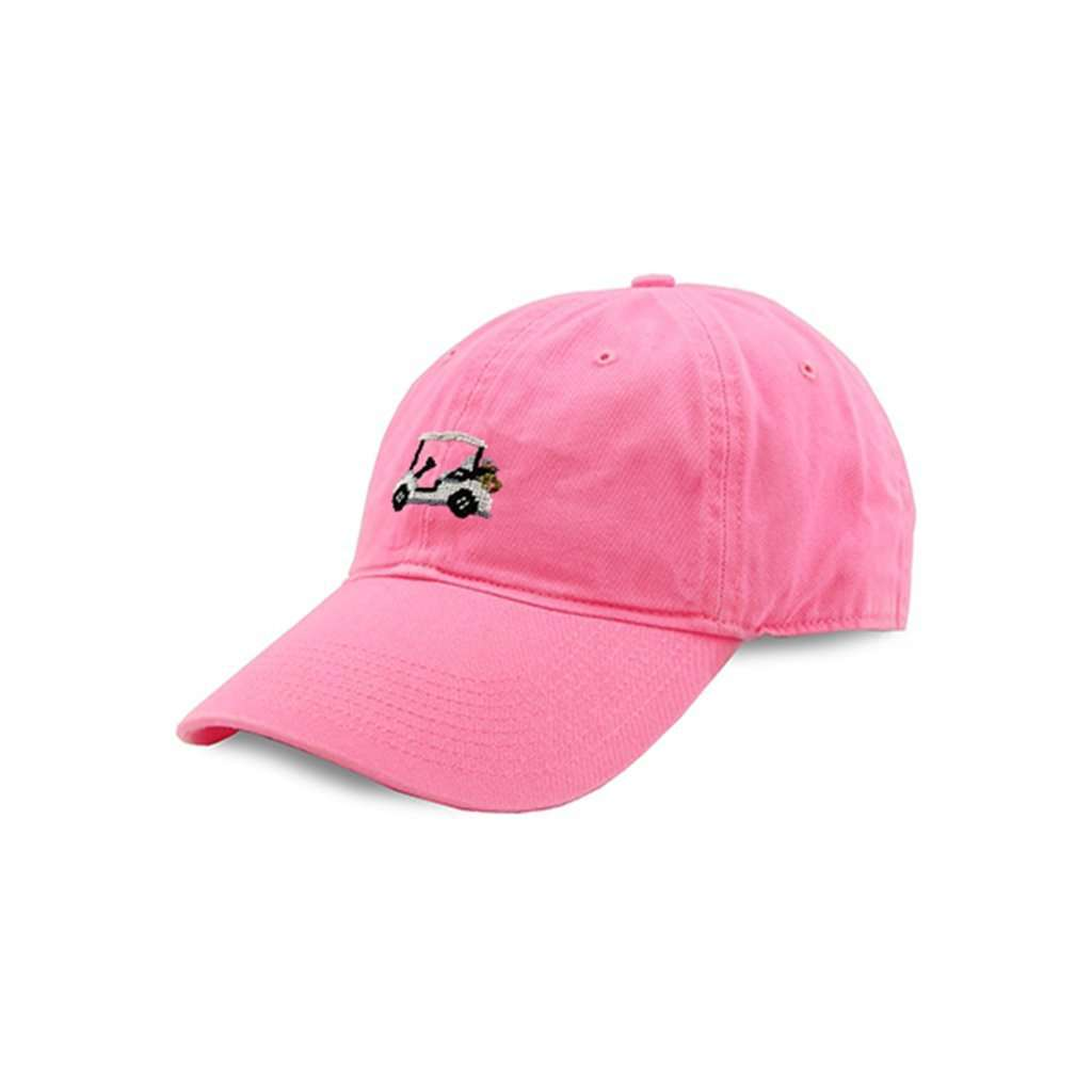 Smathers   Branson Golf Cart Needlepoint Hat in Pink – Country Club Prep d931b3b240d
