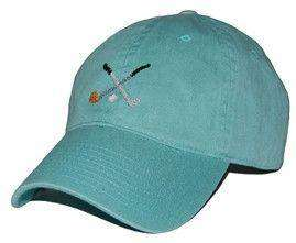 Hats/Visors - Golf Clubs Needlepoint Hat In Sage Green By Smathers & Branson
