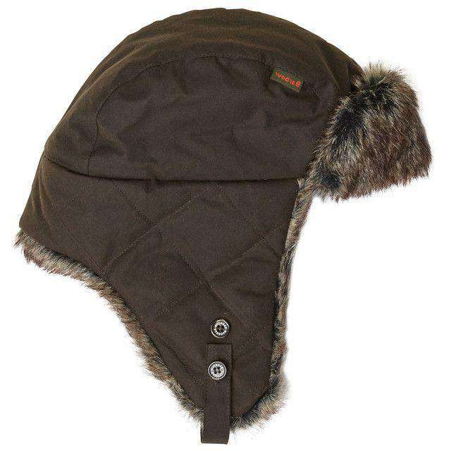 Hats/Visors - Grasmere Wax Trapper Hat In Olive By Barbour