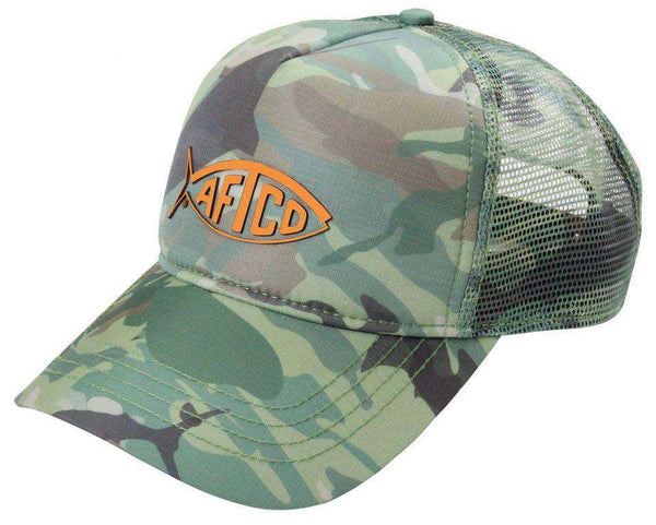 Green Camo Trucker Hat by AFTCO