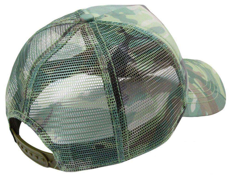 Hats/Visors - Green Camo Trucker Hat By AFTCO