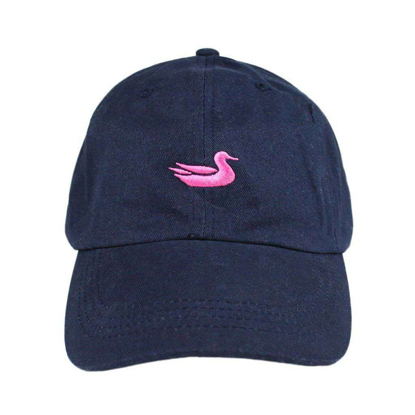 Hats/Visors - Hat In Navy With Pink Duck By Southern Marsh