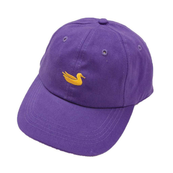 Hats/Visors - Hat In Purple With Gold Duck By Southern Marsh