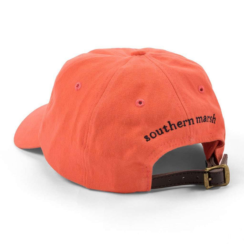 Hats/Visors - Hat In Washed Coral With Navy Duck By Southern Marsh