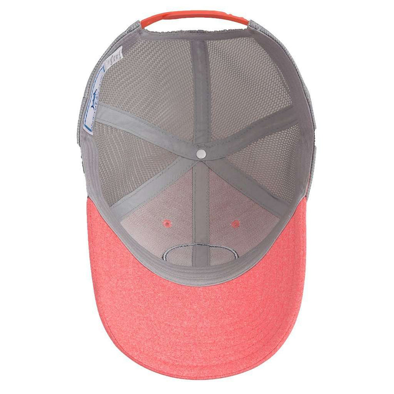 Southern Tide Heathered Skipjack Trucker Hat in Coral – Country Club ... 40dc46d1abc4