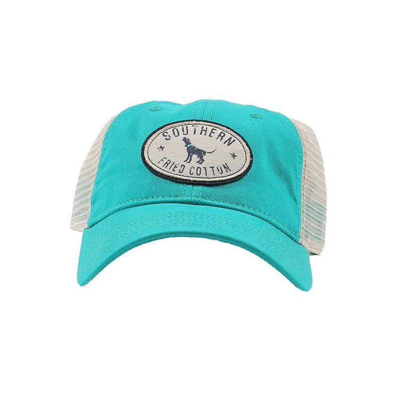 Howlin' at the Stars Trucker Hat in Teal by Southern Fried Cotton