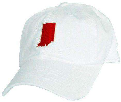 Hats/Visors - Indiana Bloomington Gameday Hat In White By State Traditions