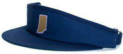 Hats/Visors - Indiana South Bend Gameday Golf Visor In Navy By State Traditions