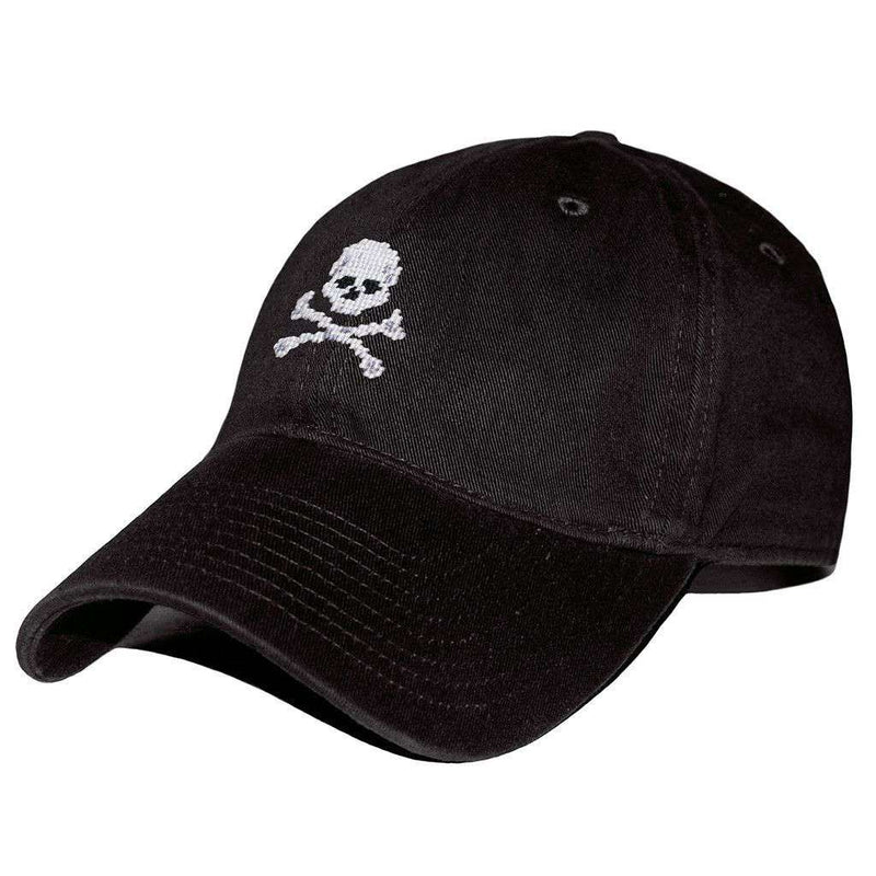 Hats/Visors - Jolly Roger Needlepoint Hat In Black By Smathers & Branson
