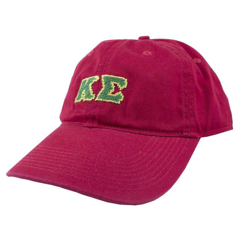 Hats/Visors - Kappa Sigma Needlepoint Hat In Red By Smathers & Branson