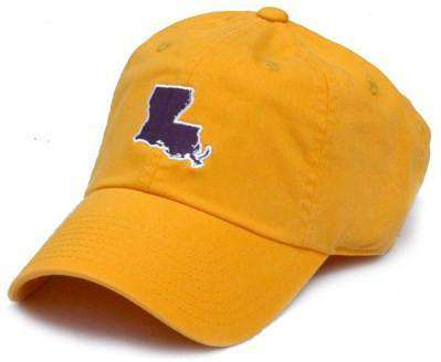 Hats/Visors - LA Baton Rouge Gameday Hat In Gold By State Traditions