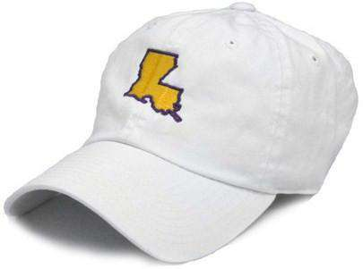 Hats/Visors - LA Baton Rouge Gameday Hat In White By State Traditions