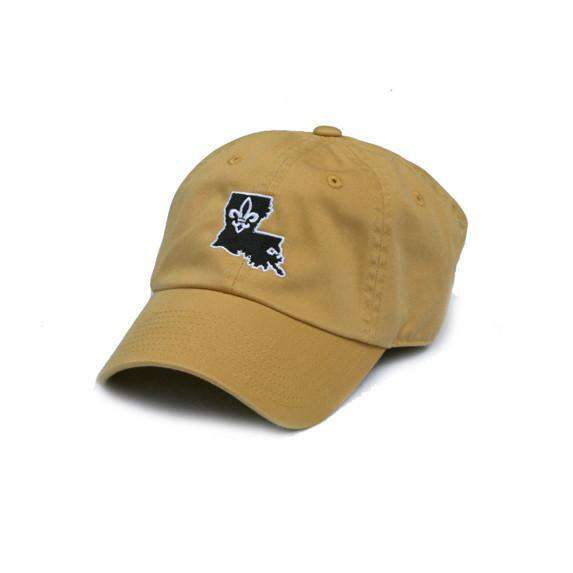 Hats/Visors - LA Who Dat Hat In Gold By State Traditions