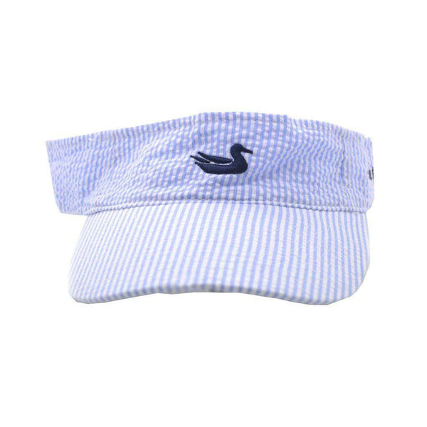 Hats/Visors - Limited Edition Seersucker Visor With Navy Duck By Southern Marsh