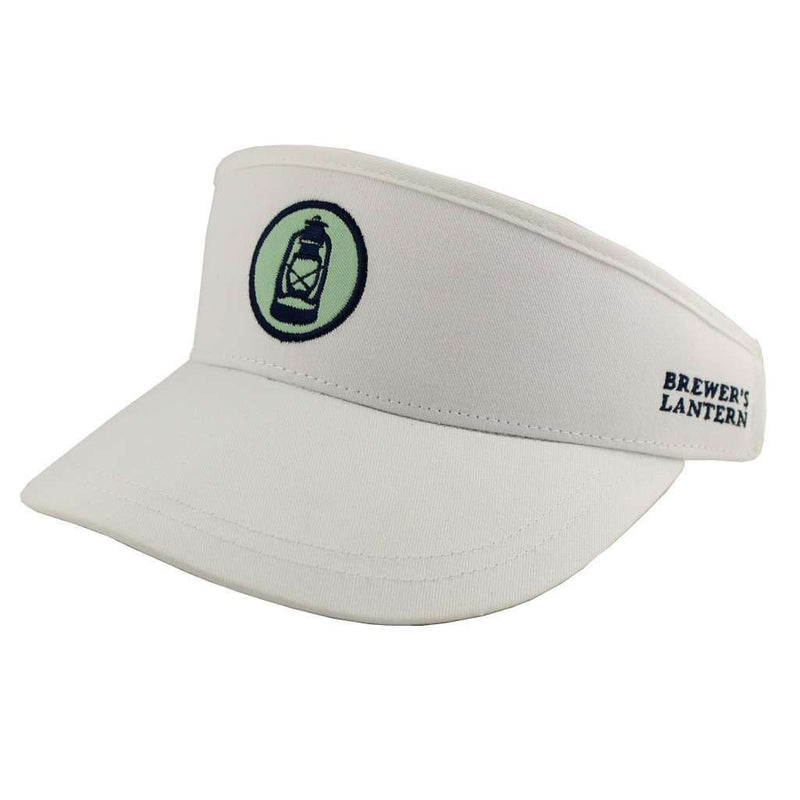 Hats/Visors - Logo Golf Visor In White By Brewer's Lantern