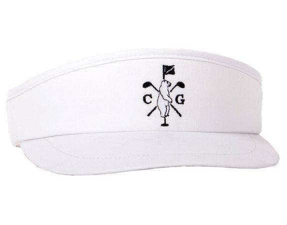 Hats/Visors - Long Ball Visor In White By Collared Greens