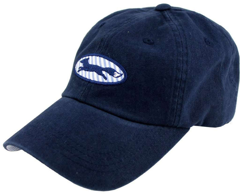 Hats/Visors - Longshanks Logo Hat In Navy Twill By Country Club Prep