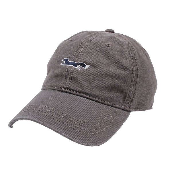 Hats/Visors - Longshanks Solid Logo Hat In Grey Twill By Country Club Prep - FINAL SALE