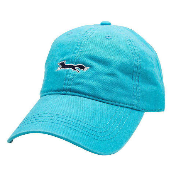 Longshanks Solid Logo Hat in Lagoon Blue Twill by Country Club Prep - FINAL SALE