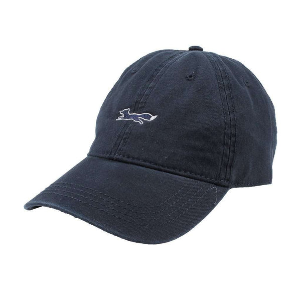 Hats/Visors - Longshanks Solid Logo Hat In Navy Twill By Country Club Prep