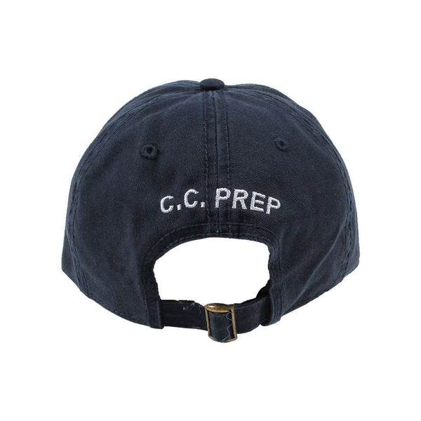 Longshanks Solid Logo Hat in Navy Twill by Country Club Prep