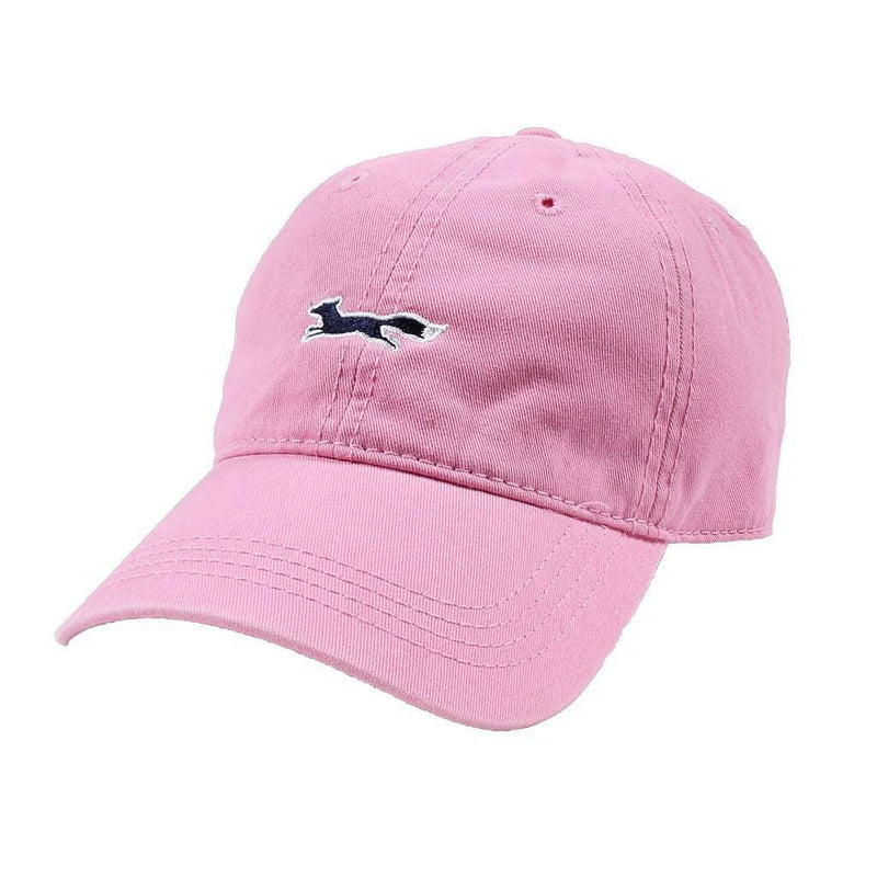 Longshanks Solid Logo Hat in Pink Twill by Country Club Prep
