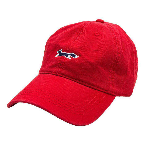 Hats/Visors - Longshanks Solid Logo Hat In Red Twill By Country Club Prep - FINAL SALE