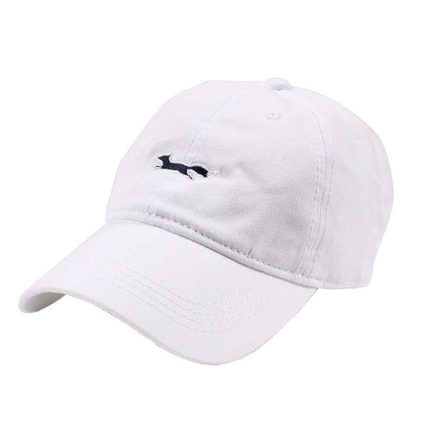 Hats/Visors - Longshanks Solid Logo Hat In White Twill By Country Club Prep