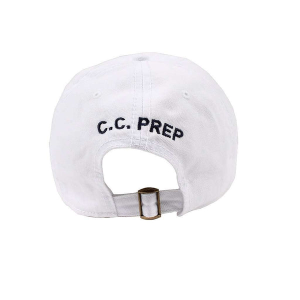 Longshanks Solid Logo Hat in White Twill by Country Club Prep