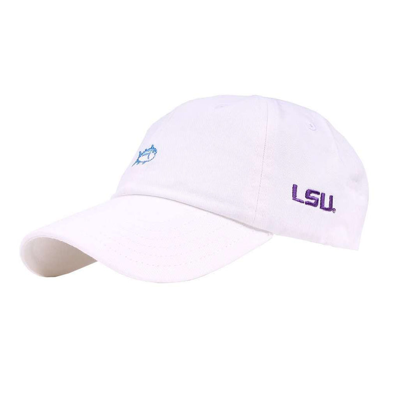 Hats/Visors - LSU Gameday Skipjack Hat In White By Southern Tide - FINAL SALE