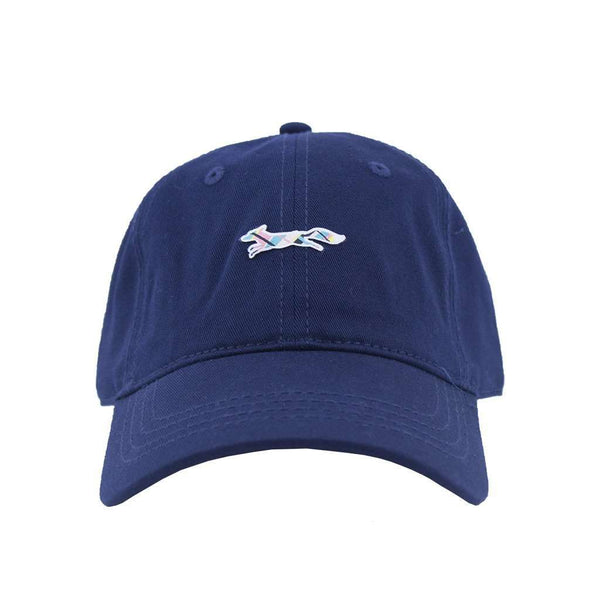 Hats/Visors - Madras Longshanks Logo Hat In Navy By Country Club Prep - FINAL SALE