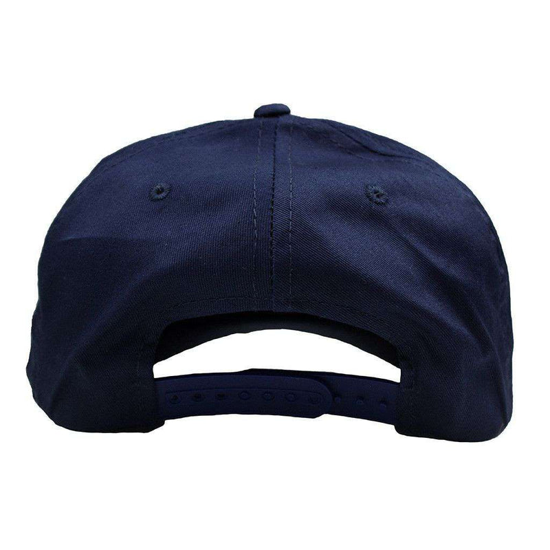 Make America Preppy Again Rope Hat in Navy by Country Club Prep