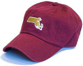 Hats/Visors - Massachusetts Chestnut Hill Gameday Hat In Maroon By State Traditions
