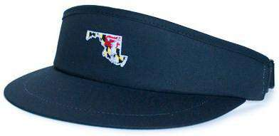 Hats/Visors - MD Traditional Golf Visor In Black By State Traditions