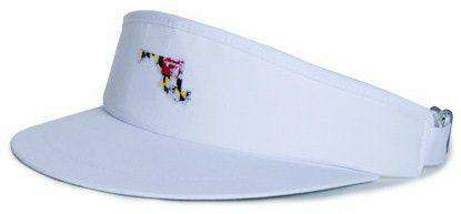 Hats/Visors - MD Traditional Golf Visor In White By State Traditions