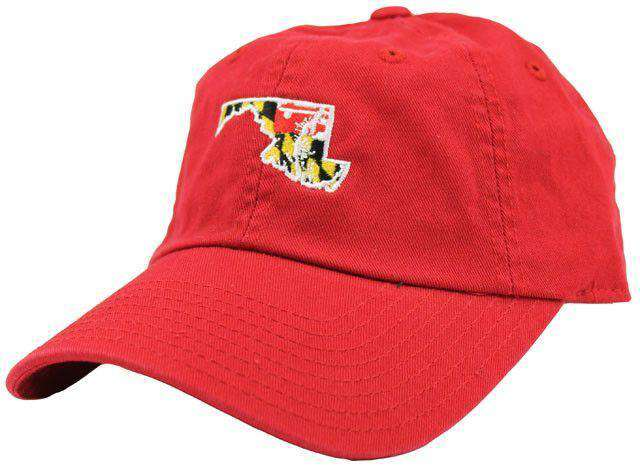 Hats/Visors - MD Traditional Hat In Red By State Traditions