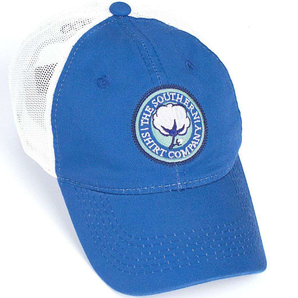 Mesh Back Logo Hat in Royal Blue by The Southern Shirt Co. - Country Club Prep